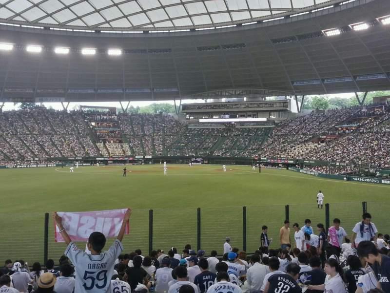 Vista sentada para Seibu Prince Dome Secção Home supporters