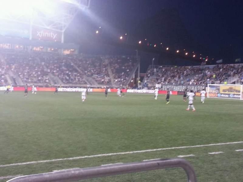 Vista sentada para Talen Energy Stadium Secção 106 Fila a