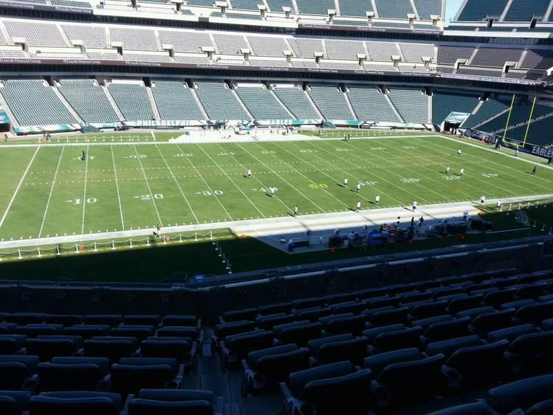 Vista sentada para Lincoln Financial Field Secção c38 Fila 13 Lugar 10