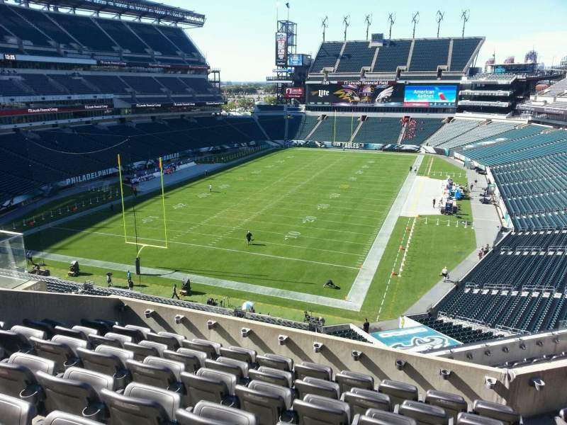 Vista sentada para Lincoln Financial Field Secção m13 Fila 12 Lugar 15