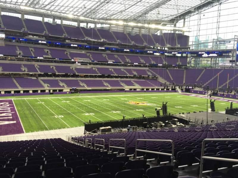 Vista sentada para U.S. Bank Stadium Secção 113 Fila 37 Lugar 4