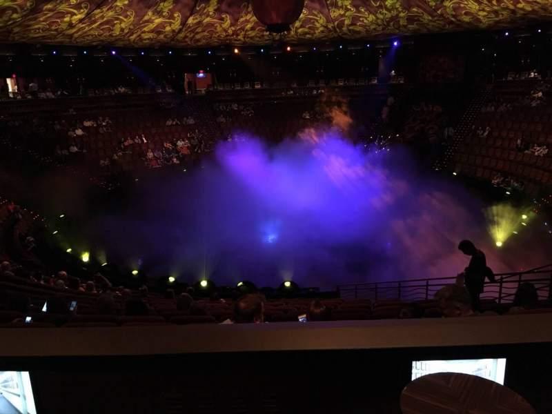 Vista sentada para Wynn Theatre Secção E Fila L Lugar 6