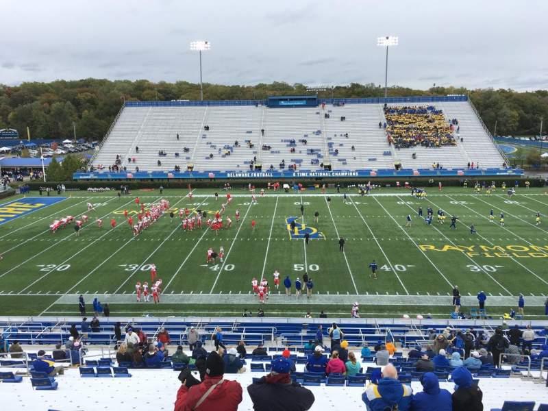 Vista sentada para Delaware Stadium Secção D Fila Kk Lugar 14