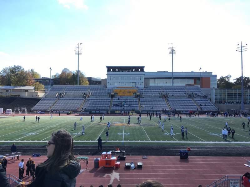 Vista sentada para Johnny Unitas Stadium Secção 104 Fila Q Lugar 15