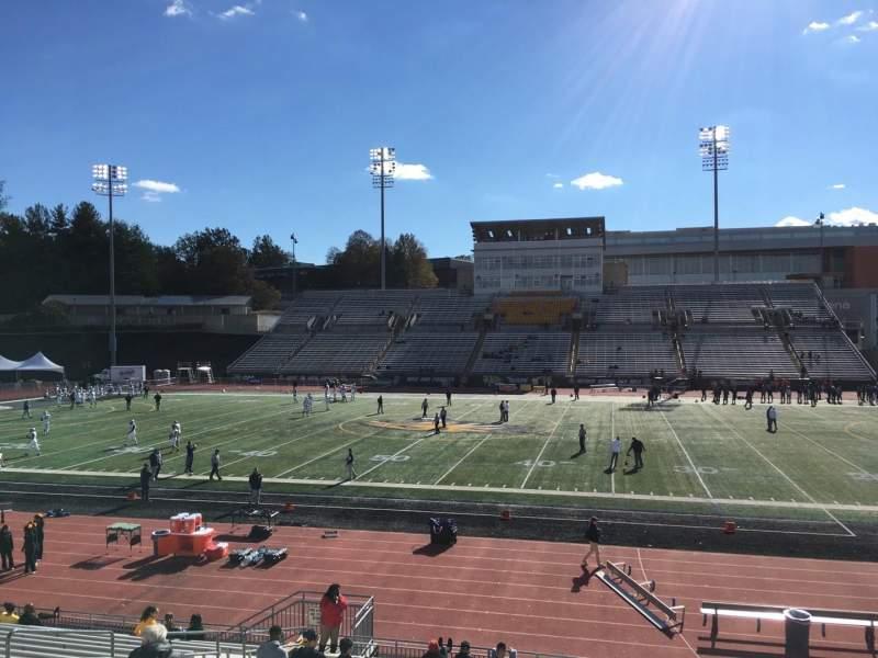 Vista sentada para Johnny Unitas Stadium Secção 103 Fila T Lugar 20