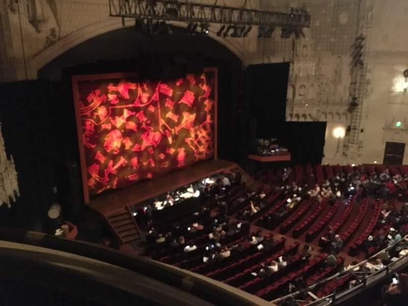 Vista sentada para Orpheum Theatre (San Francisco) Secção Balcony L Fila Aa Lugar 1