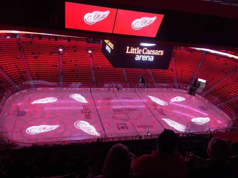 Vista sentada para Little Caesars Arena Secção 228 Fila 10 Lugar 15