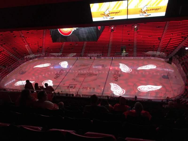 Vista sentada para Little Caesars Arena Secção 226 Fila 11 Lugar 10