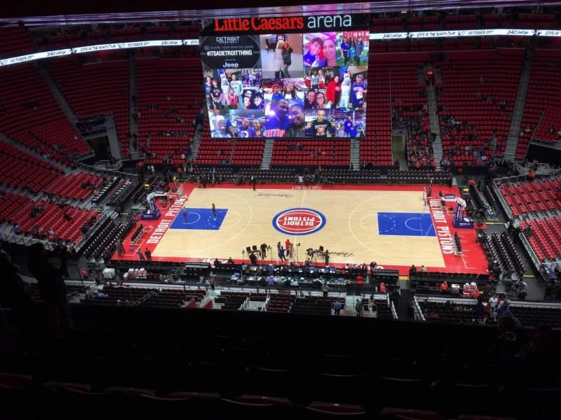Vista sentada para Little Caesars Arena Secção 226 Fila 10 Lugar 10