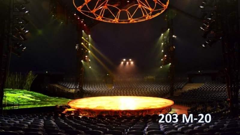 Vista sentada para Cirque Du Soleil - Totem Secção 203 Fila M Lugar 20