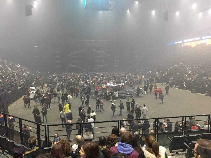 Vista sentada para AccorHotels Arena Secção U Fila 17 Lugar 22