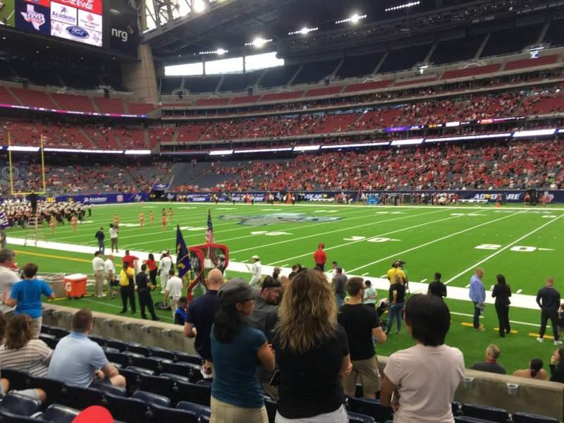 Vista sentada para NRG Stadium Secção 104 Fila H Lugar 1