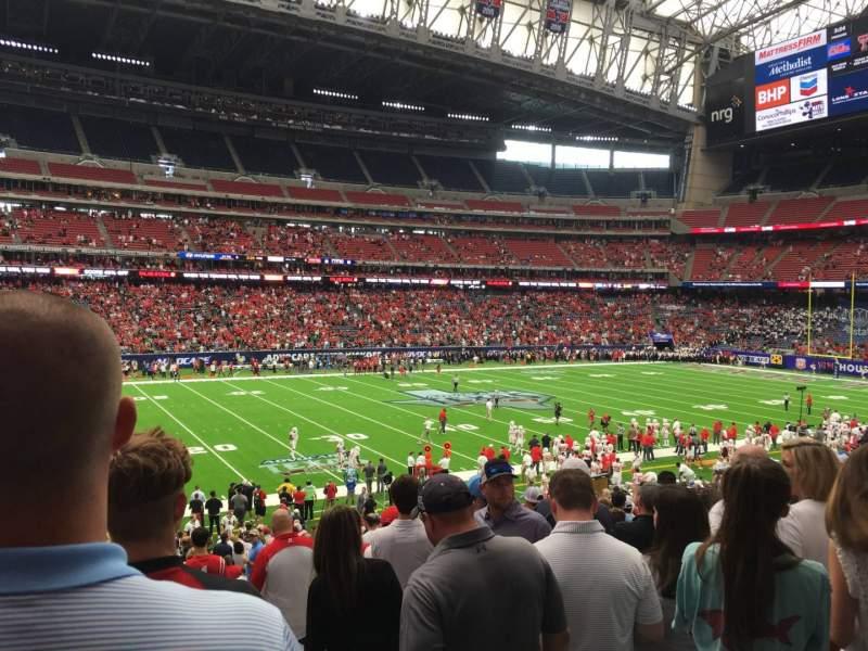 Vista sentada para NRG Stadium Secção 110 Fila Dd Lugar 1