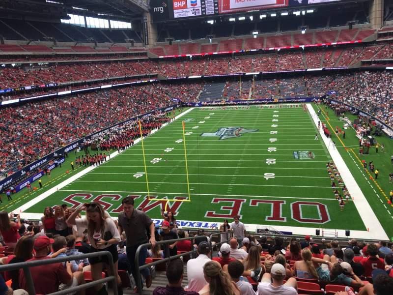 Vista sentada para NRG Stadium Secção 322 Fila Q Lugar 23