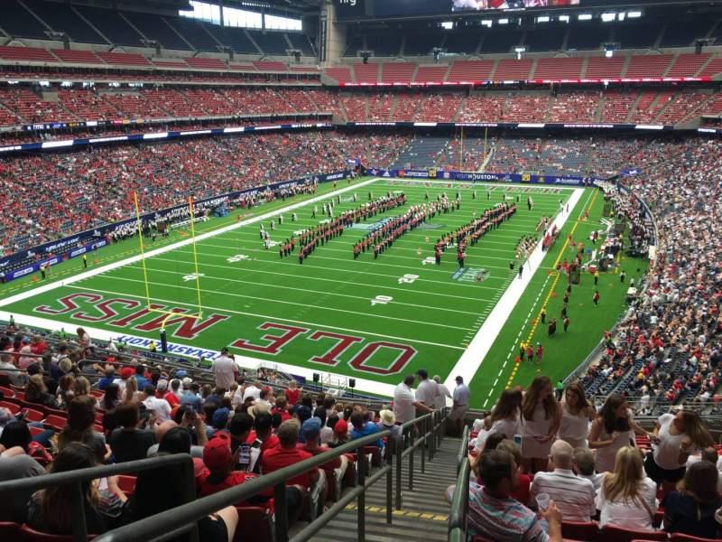 Vista sentada para NRG Stadium Secção 320 Fila S Lugar 16