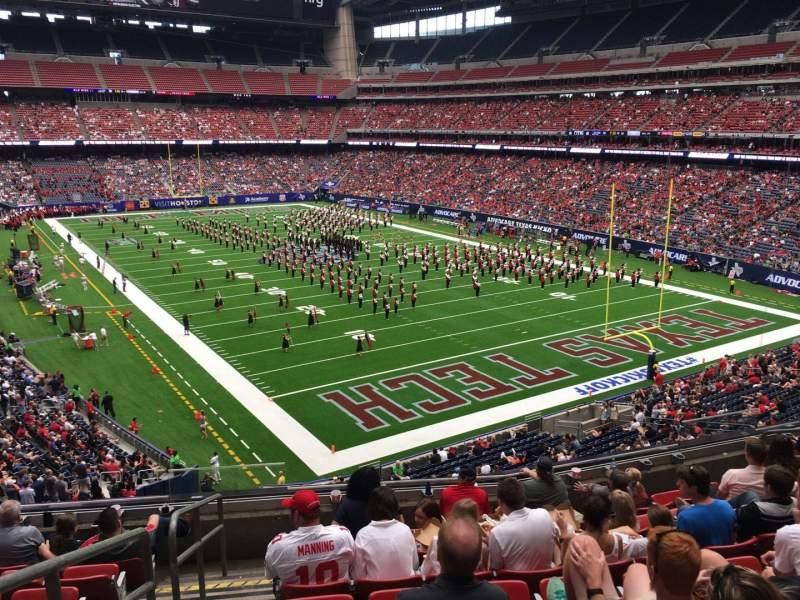 Vista sentada para NRG Stadium Secção 356 Fila H Lugar 13