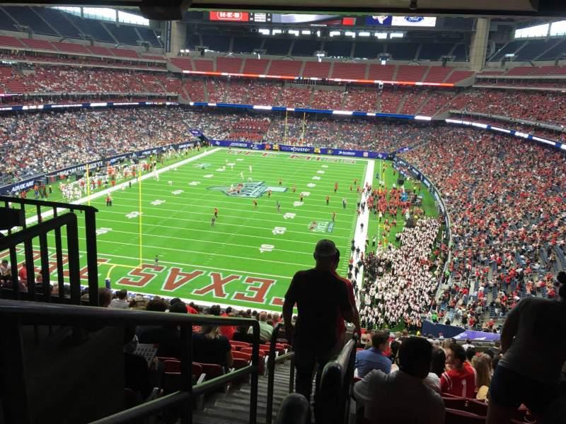 Vista sentada para NRG Stadium Secção 349 Fila V Lugar 15
