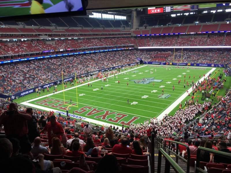 Vista sentada para NRG Stadium Secção 348 Fila V Lugar 1
