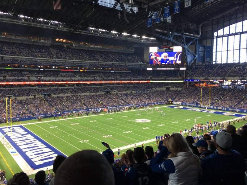 Vista sentada para Lucas Oil Stadium Secção 318 Fila 5 Lugar 22