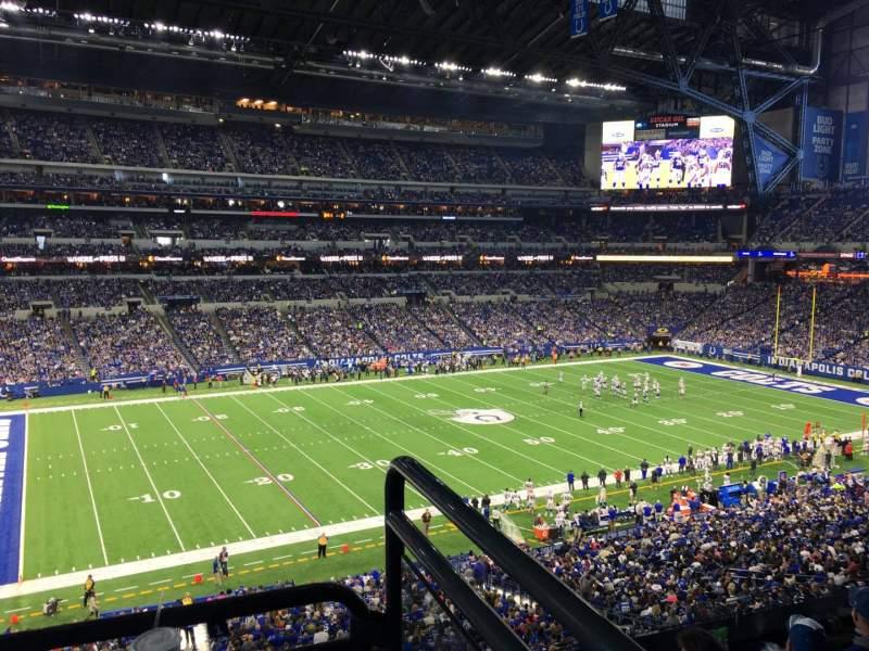 Vista sentada para Lucas Oil Stadium Secção 317 Fila 5w Lugar 1