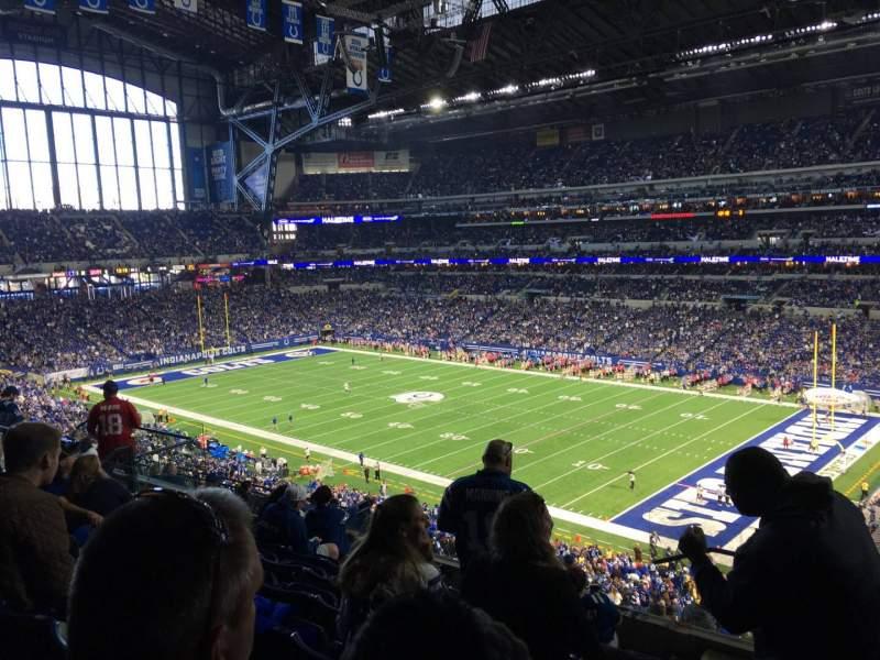 Vista sentada para Lucas Oil Stadium Secção 434 Fila 8 Lugar 1