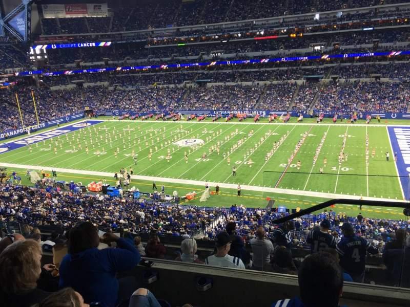 Vista sentada para Lucas Oil Stadium Secção 437 Fila 4 Lugar 1
