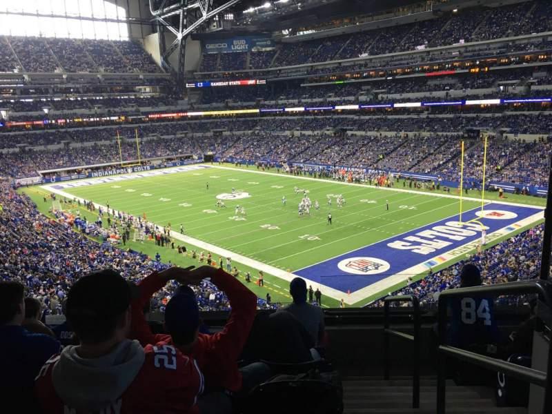 Vista sentada para Lucas Oil Stadium Secção 306 Fila 5 Lugar 1