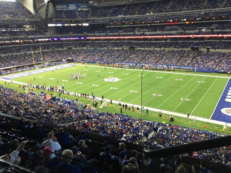 Vista sentada para Lucas Oil Stadium Secção 409 Fila 2 Lugar 1