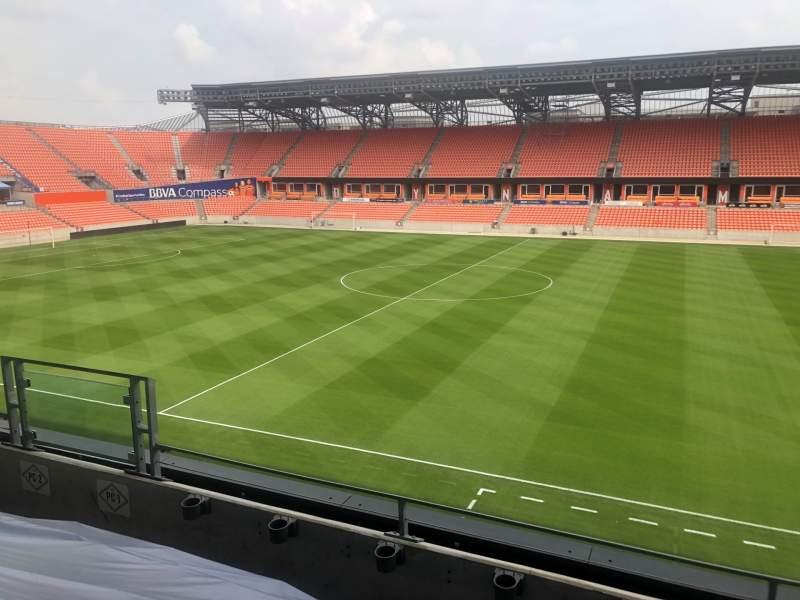 Vista sentada para BBVA Stadium Secção PC1