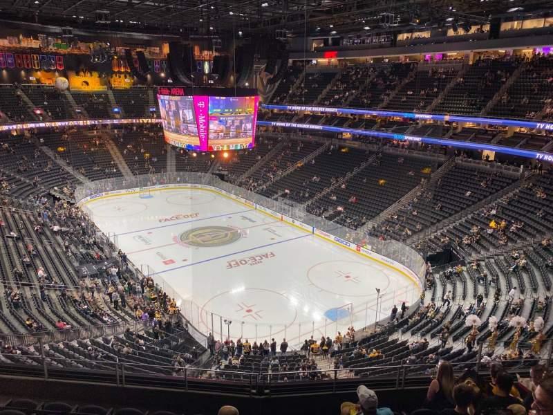 Vista sentada para T-Mobile Arena Secção 211 Fila G Lugar 9