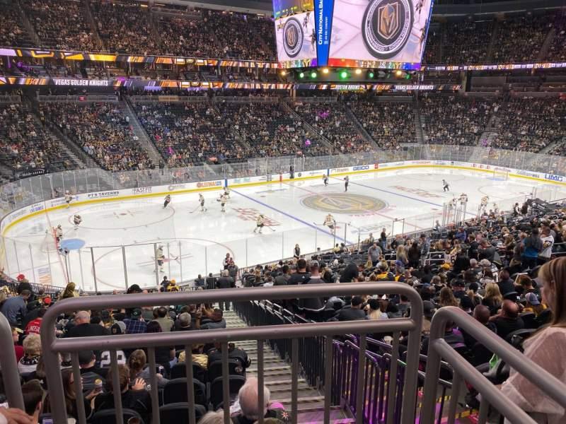 Vista sentada para T-Mobile Arena Secção 3 Fila Wc Lugar 10