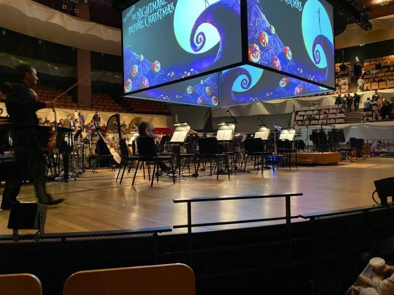 Vista sentada para Boettcher Concert Hall Secção Orch 1 Fila E Lugar 19