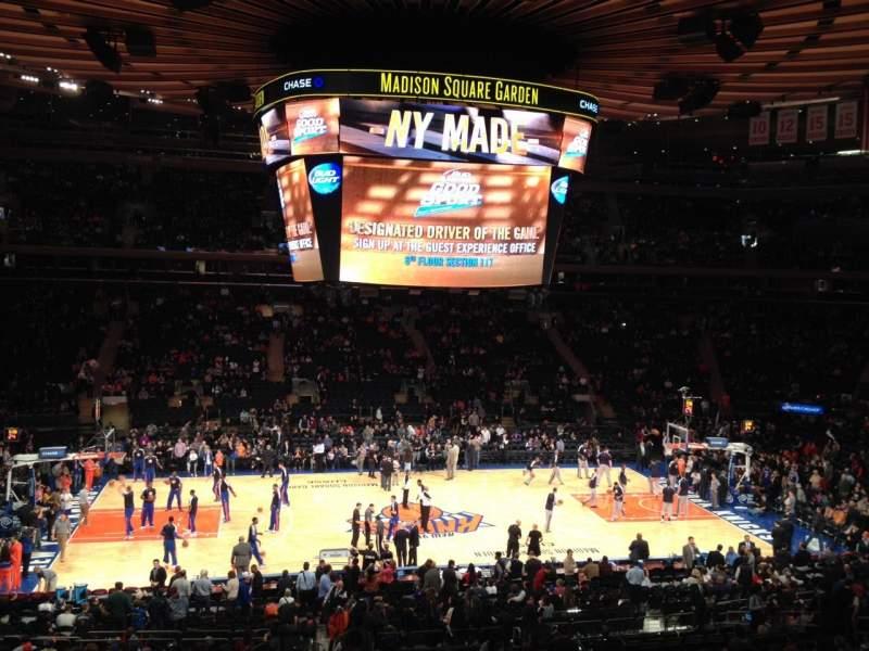 Vista sentada para Madison Square Garden Secção Suite 45 Lugar 5