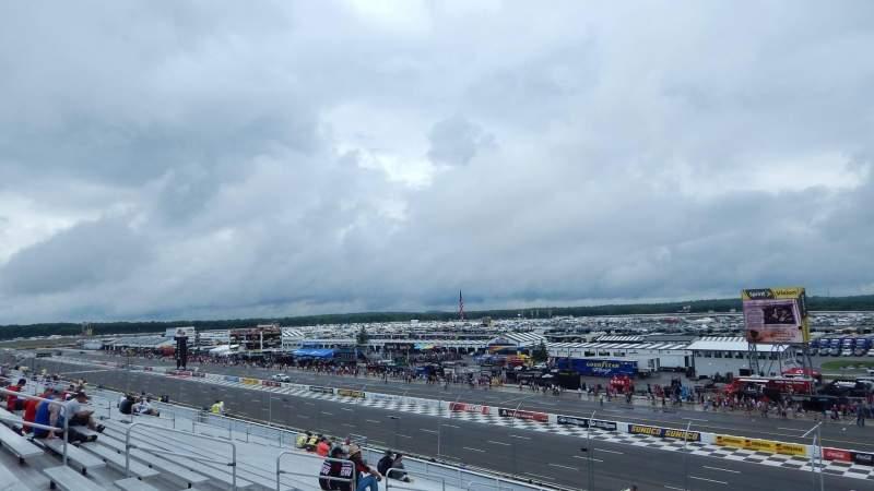 Vista sentada para Pocono Raceway Secção 209 Fila 38 Lugar 12