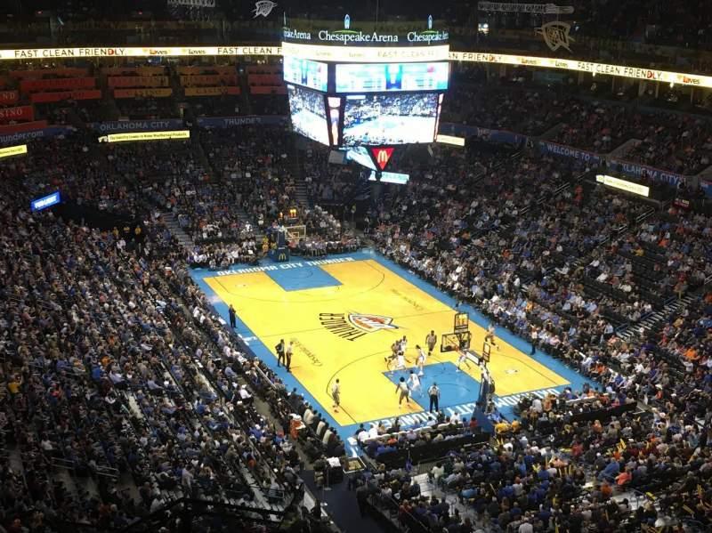 Vista sentada para Chesapeake Energy Arena Secção 318 Fila M Lugar 19