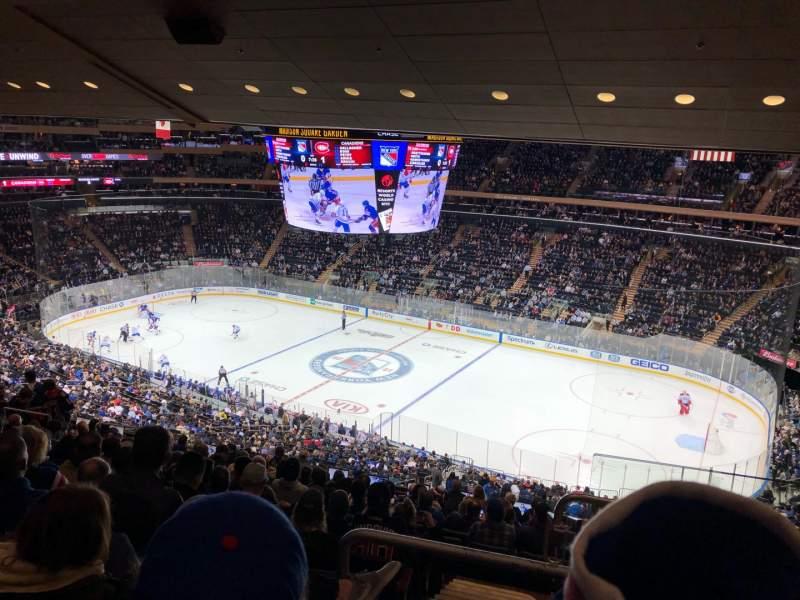 Vista sentada para Madison Square Garden Secção 213 Fila 14 Lugar 22