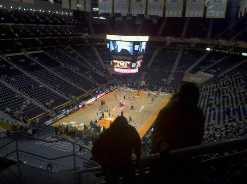 Vista sentada para Thompson-Boling Arena Secção 327a Fila 7 Lugar 1