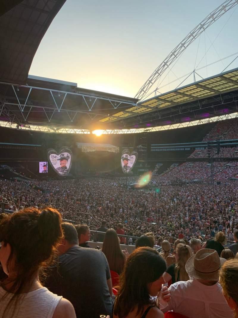 Vista sentada para Wembley Stadium Secção 118 Fila 40 Lugar 178