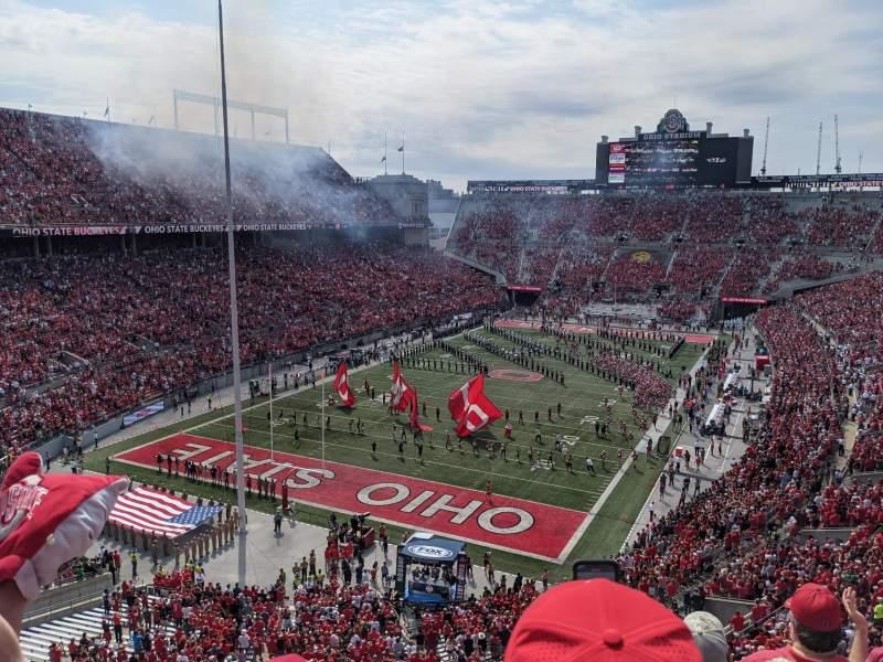 Vista sentada para Ohio Stadium Secção 7C Fila 4 Lugar 4