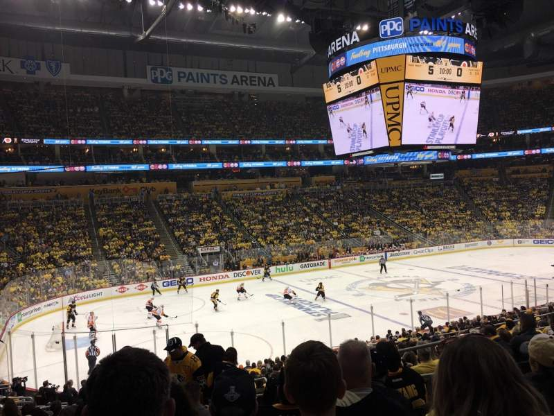 Vista sentada para PPG Paints Arena Secção 115 Fila Y