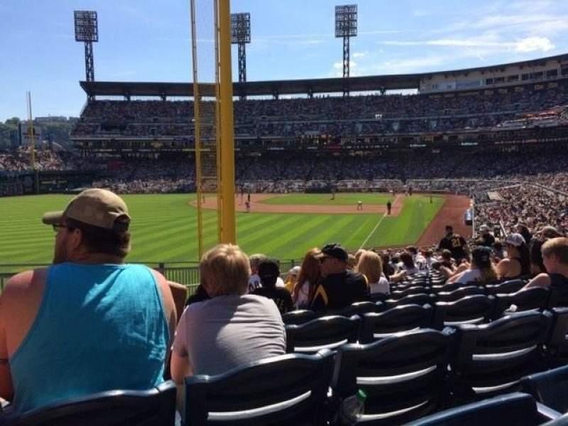 Vista sentada para PNC Park Secção 132 Fila V