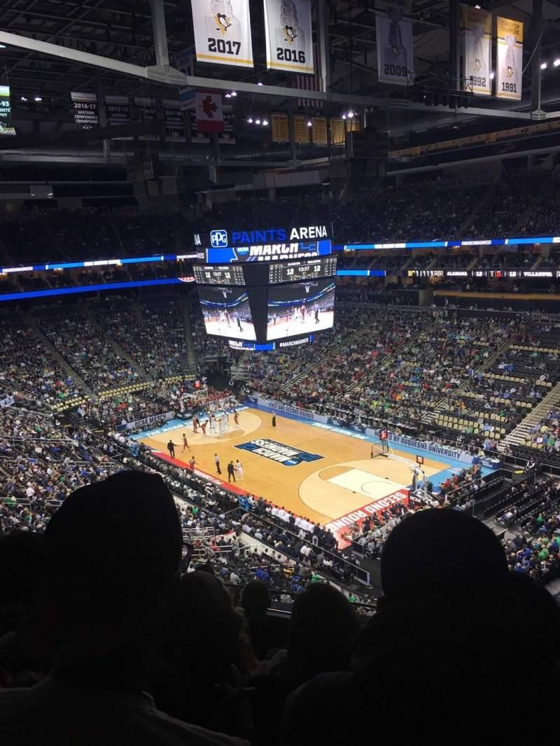 Vista sentada para PPG Paints Arena Secção 232 Fila E Lugar 10