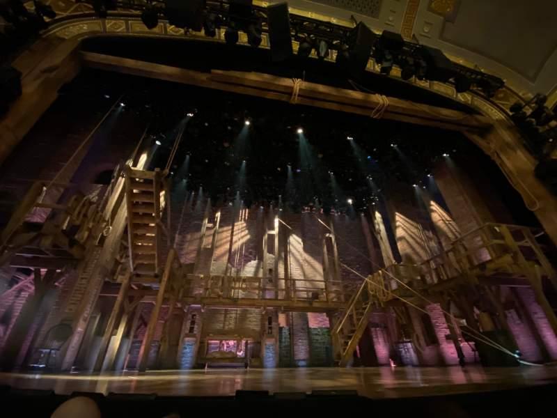 Vista sentada para Richard Rodgers Theatre Secção Orchestra C Fila B Lugar 109