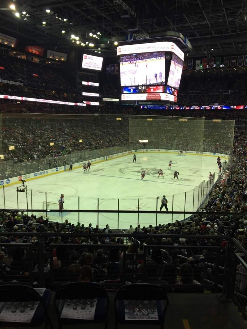 Vista sentada para Nationwide Arena Secção C10 Fila A Lugar 2