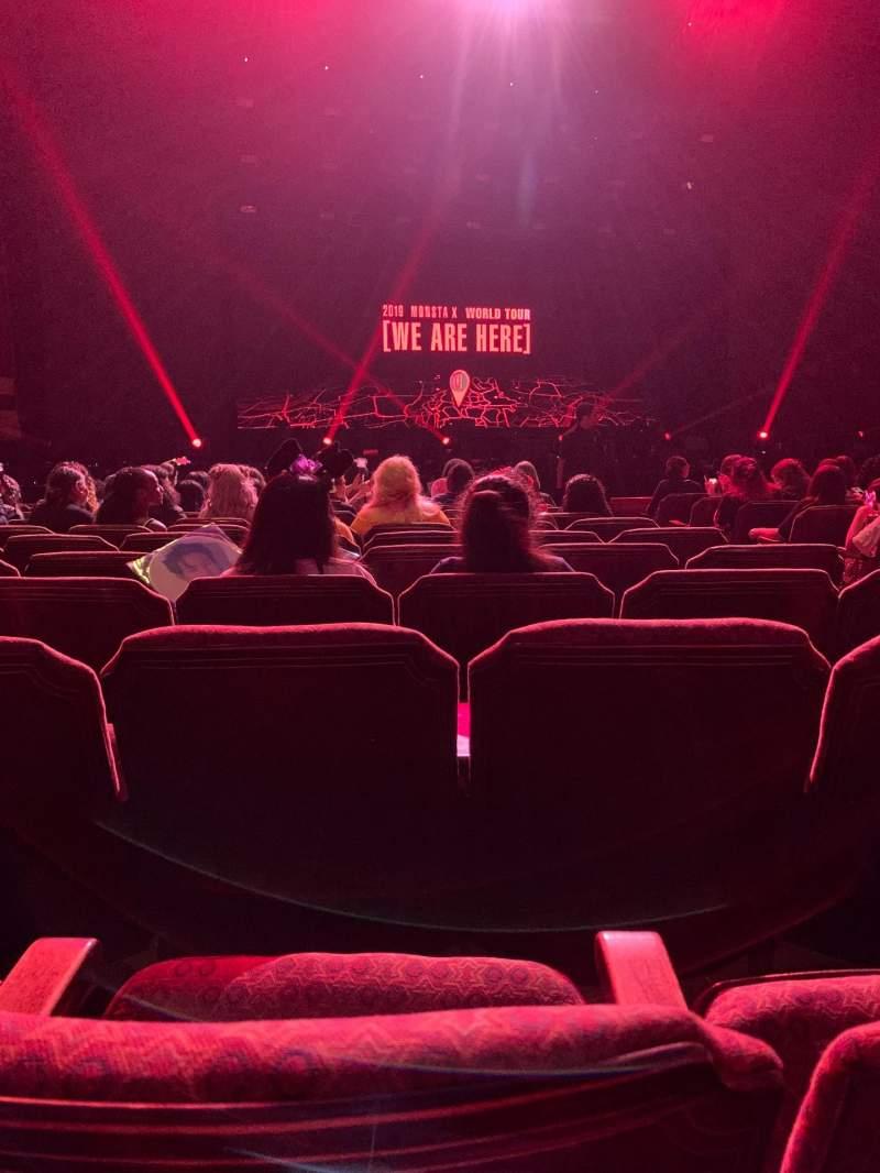 Vista sentada para Fox Theatre (Atlanta) Secção Orchestra LC Fila L Lugar 57