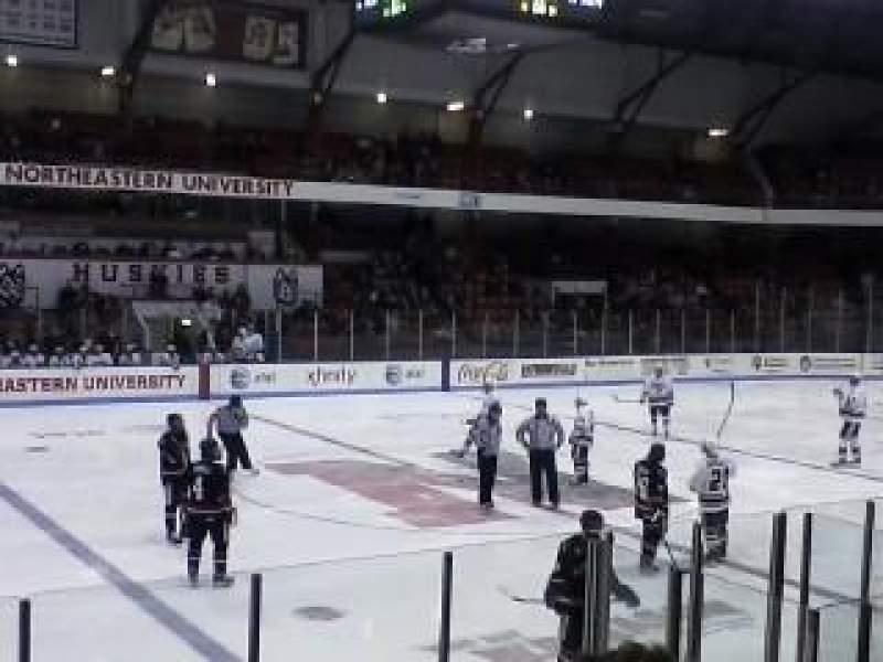 Vista sentada para Matthews Arena Secção 10 Fila E Lugar 12