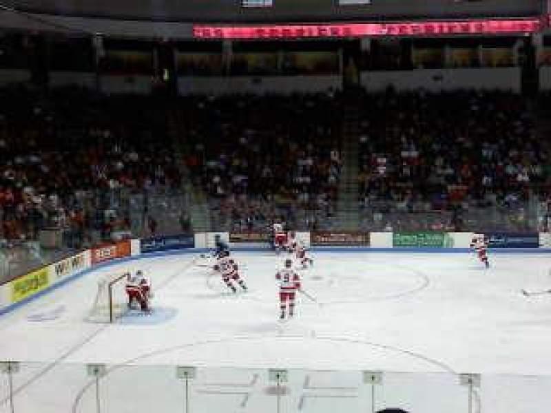 Vista sentada para Agganis Arena Secção 104 Fila K Lugar 22