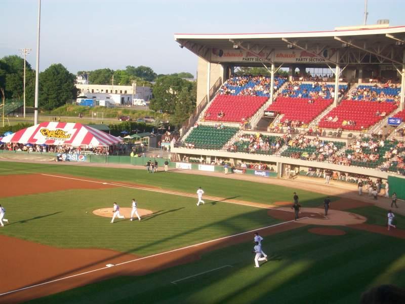 Vista sentada para McCoy Stadium Secção General Admission
