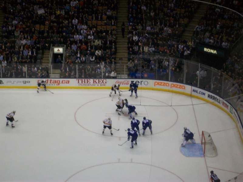 Vista sentada para Scotiabank Arena Secção 319 Fila 14 Lugar 33