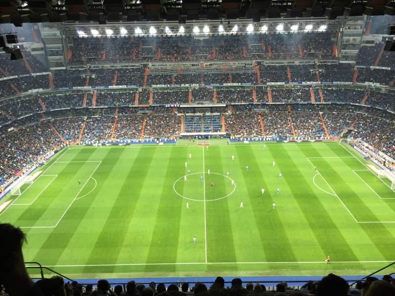 Vista sentada para Santiago Bernabéu Stadium Secção 601 Fila 11 Lugar 9